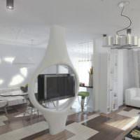 Футуристический дизайн-проект гостиной частного дома