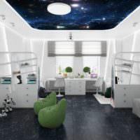 Комната в виде рубки космического корабля