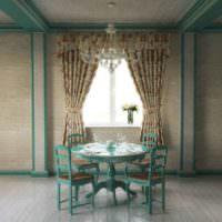 Обеденный стол и стулья в классическом стиле