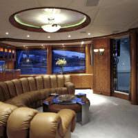 Интерьер гостиной в морской тематике
