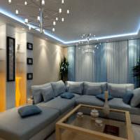 Стильное освещение в гостиной частного дома