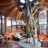Оригинальный дизайн интерьера частного дома