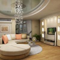 Современный интерьер гостиной в городской квартире