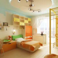Оранжевый цвет в оформлении детской
