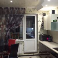 Дизайн интерьера кухни с выходом на лоджию