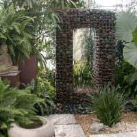 Габионы в ландшафте садового участка