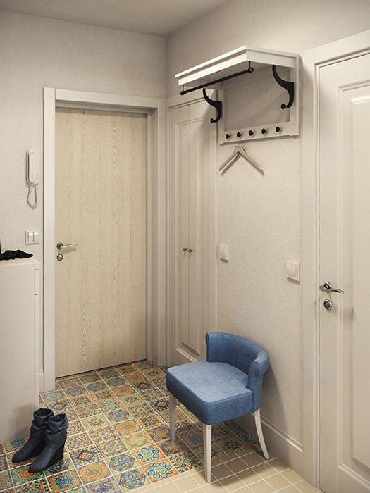 коридор в однокомнатной квартире дизайн фото благодаря этой