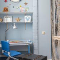 Морские декорации в детской комнате