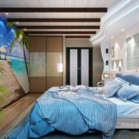 Оттенки синего цвета в интерьере спальни