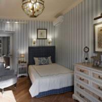 Освещение в спальне морского стиля