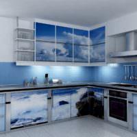 Кухонный гарнитур в морской стилистике