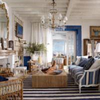 Классическая гостиная в морском стиле