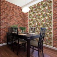 Оформление обеденной зоны на кухне частного дома