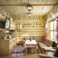 Текстиль в оформлении банной комнаты отдыха