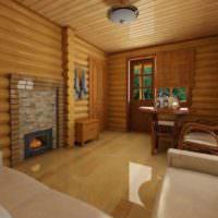 Планировка комнаты отдыха деревенской бани