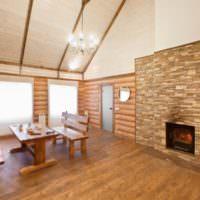 Место для отдыха в современной бане