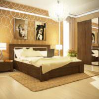 Люстра в форме шара в интерьере спальни