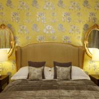 Прикроватные столики по сторонам кровати