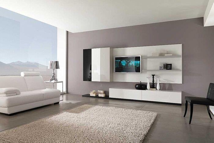 Дизайн просторной гостиной в современном стиле хай-тек