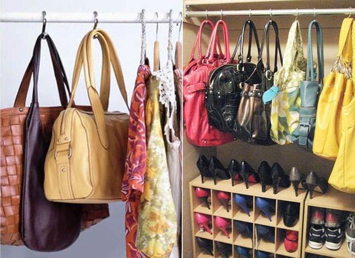 Лайфхак для хранения женских сумок