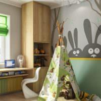 Мятные оттенки в детской комнате