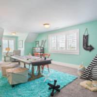 Просторная детская комната в загородном доме