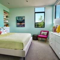 Интерьер спальной комнаты в спокойных оттенках