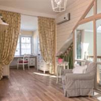 Зонирование детской комнаты шторами