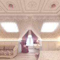 Дизайн-проект детской спальни в мансарде