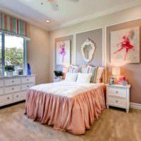 Интерьер комнаты юной балерины