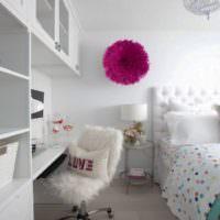 Декорирование белой комнаты для ребенка старше 13 лет
