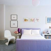 Сиреневая кровать для девочки подростка