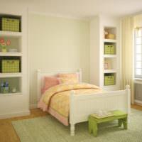 Зеленый цвет в дизайне жилой комнаты