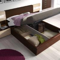 Система хранения постельных принадлежностей под кроватью