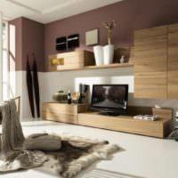 Элементы ретро стиля в современной гостиной