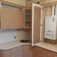 Место на кухне для настенного газового котла