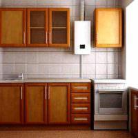 Кухонный гарнитур с отделкой под дерево