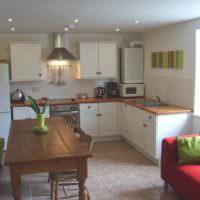 Оформление кухни частного дома с газовым котлом
