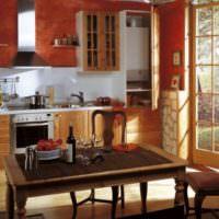 Шкаф для газового оборудования на кухне частного дома