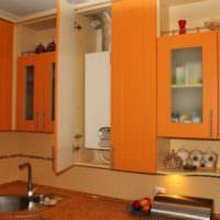 Размещение газовой колонки в модуле кухонного гарнитура