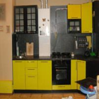 Кухня в хрущевке с газовой колонкой