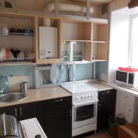 Самодельные кухонные шкафы для маскировки газового оборудования