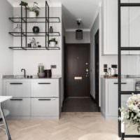 Кухня в стиле минимализма в пастельных тонах