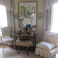 Интерьер красивой гостиной в стиле прованс