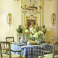 Оформление стола на кухне в стиле прованс