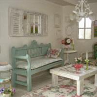 Ретро мебель в интерьере жилой комнаты