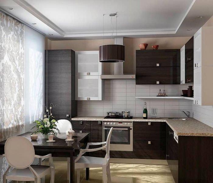 Интерьер кухни площадью 10 квадратных метров