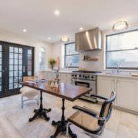Интерьер современной кухни загородного дома