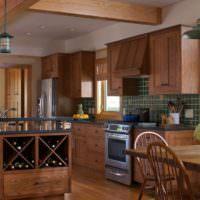 Стильное оформление кухни в частном доме