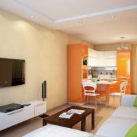 Оранжевый цвет в интерьере кухонного пространства